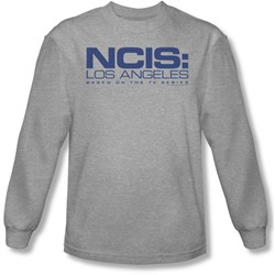 Ncis La - Mens Logo Long Sleeve Shirt In Heather