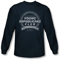 Family Ties - Mens Young Republicans Club Long Sleeve Shirt In Navy