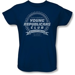 Family Ties - Womens Young Republicans Club T-Shirt In Navy