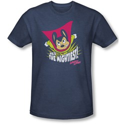 Mighty Mouse - Mens The Mightiest T-Shirt In Navy