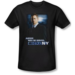 Csi:Ny - Mens Justice Served T-Shirt In Black