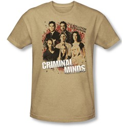 Criminal Minds - Mens Solution Lies Within T-Shirt In Sand