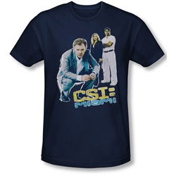 Csi: Miami - Mens In Perspective T-Shirt In Navy