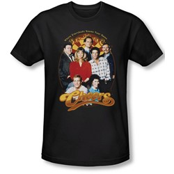 Cheers - Mens Group Shot T-Shirt In Black