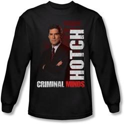 Criminal Minds - Mens Hotch Long Sleeve Shirt In Black