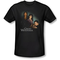 Ghost Whisperer - Mens Diagonal Cast T-Shirt In Black