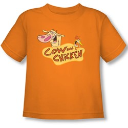 Cow & Chicken - Toddler Logo T-Shirt In Orange