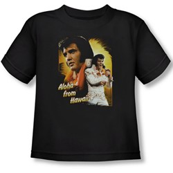 Elvis Presley - Toddler Aloha T-Shirt In Black