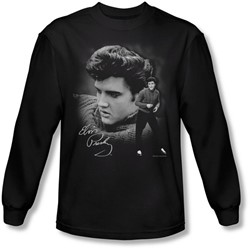 Elvis Presley - Mens Sweater Long Sleeve Shirt In Black