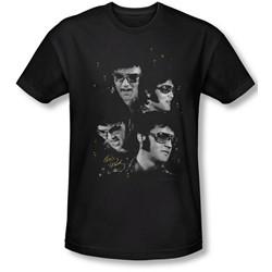 Elvis Presley - Mens Faces T-Shirt In Black