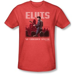 Elvis Presley - Mens Return Of The King T-Shirt In Red