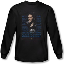 Elvis Presley - Mens Icon Long Sleeve Shirt In Black