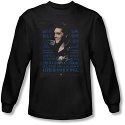 Elvis Presley - Mens Icon Long Sleeve Shirt In Black