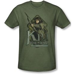 The Hobbit - Mens Kili T-Shirt In Military Green
