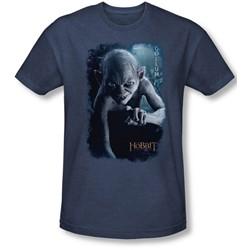 The Hobbit - Mens Gollum Poster T-Shirt In Navy