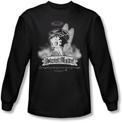 Betty Boop - Mens Street Angel Long Sleeve Shirt In Black