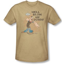 Popeye - Mens Blow Me Down T-Shirt In Sand
