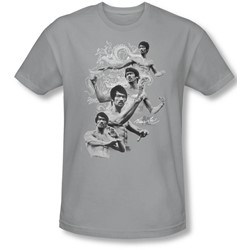 Bruce Lee - Mens In Motion T-Shirt In Silver