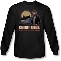 Knight Rider - Mens Full Moon Long Sleeve Shirt In Black
