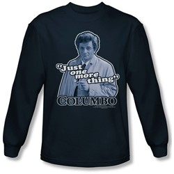 Columbo - Mens Just One More Thing Long Sleeve Shirt In Navy