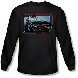 Knight Rider - Mens Kitt Long Sleeve Shirt In Black