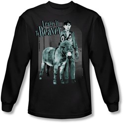 Leave It To Beaver - Mens Up To Something Long Sleeve Shirt In Black