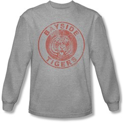 Saved By The Bell - Mens Tigers Long Sleeve Shirt In Heather