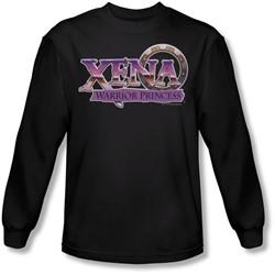 Xena: Warrior Princess - Mens Logo Long Sleeve Shirt In Black