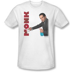 Monk - Mens Clean Up T-Shirt In White