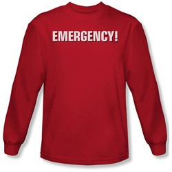 Emergency - Mens Logo Long Sleeve Shirt In Red