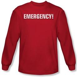 Emergency - Mens Logo Long Sleeve Shirt In Red
