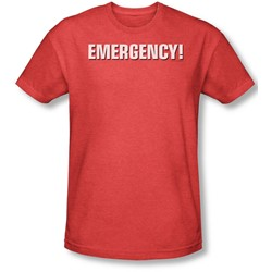 Emergency - Mens Logo T-Shirt In Red