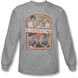Emergency - Mens Retro Cast Long Sleeve Shirt In Heather