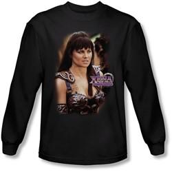 Xena: Warrior Princess - Mens Warrior Princess Long Sleeve Shirt In Black