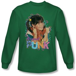 Punky Brewster - Mens Original Punk Long Sleeve Shirt In Kelly Green