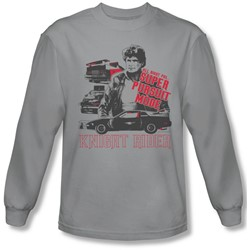 Knight Rider - Mens Super Pursuit Mode Long Sleeve Shirt In Silver
