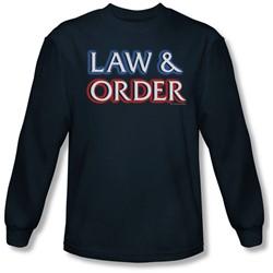 Law & Order - Mens Logo Long Sleeve Shirt In Navy