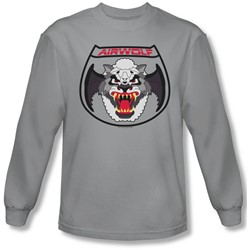 Airwolf - Mens Patch Long Sleeve Shirt In Silver