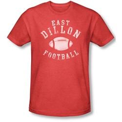 Friday Night Lights - Mens East Dillon Football T-Shirt In Red