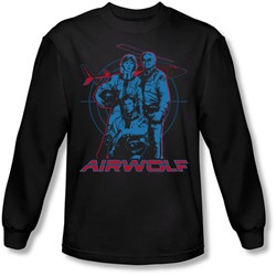 Airwolf - Mens Graphic Long Sleeve Shirt In Black