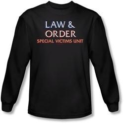 Law & Order - Mens Logo Long Sleeve Shirt In Black