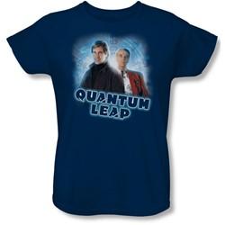 Quantum Leap - Womens Sam & Al T-Shirt In Navy