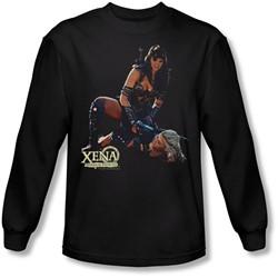 Xena: Warrior Princess - Mens In Control Long Sleeve Shirt In Black