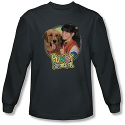 Punky Brewster - Mens Punky & Brandon Long Sleeve Shirt In Charcoal