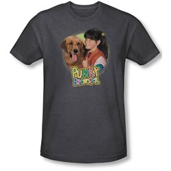 Punky Brewster - Mens Punky & Brandon T-Shirt In Charcoal