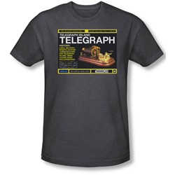 Warehouse 13 - Mens Telegraph Island T-Shirt In Charcoal