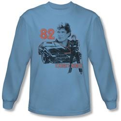 Knight Rider - Mens Kitt Consol Long Sleeve Shirt In Carolina Blue