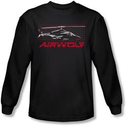 Airwolf - Mens Grid Long Sleeve Shirt In Black