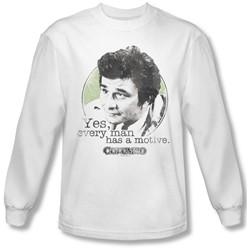 Columbo - Mens Motive Long Sleeve Shirt In White
