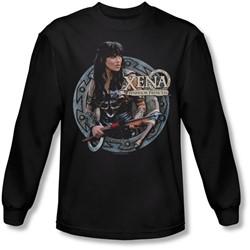 Xena: Warrior Princess - Mens The Warrior Long Sleeve Shirt In Black